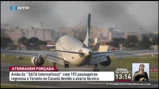 Um avião da SATA International com destino a Ponta Delgada teve de regressar a Toronto, no Canadá, pouco depois de ter descolado.