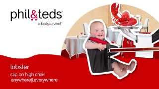 Have lobster at the table everyday! Adaptable dining in an ultra portable high chair. https://philandteds.com/Products/Feed/Lobster