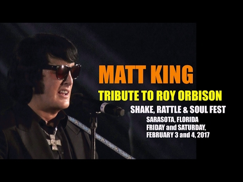 Matt King Tribute To Roy Orbison - Sarasota 2017