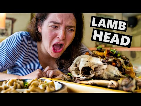 Mongolian Food Tour: Trying LAMB HEAD In Ulan Bator (Trans Siberian Railway Adventure)