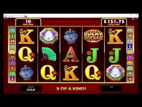 Lucky Zodiac Slot Bonus Round + Re-Trigger - Microgaming