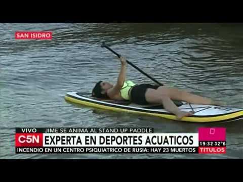 C5N - Deporte: Jornada de deportes acuáticos en el Bajo de San Isidro