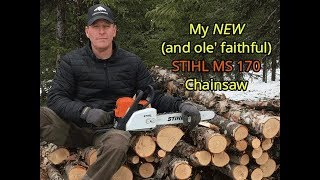 3. My New (and Old) STIHL MS 170 Chainsaw