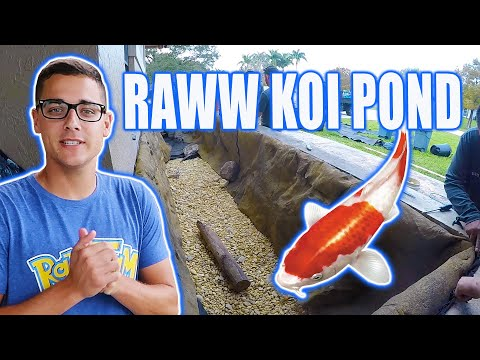 *RAWW FISHING* Gets 2nd Aquascape KOI POND for Planter Bed!