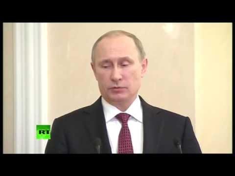 Речь Путина об итогах переговоров в Минске