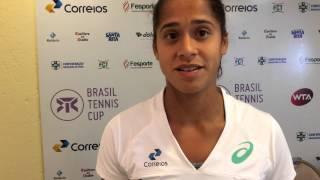 Teliana Pereira estreia contra argentina no Brasil Tennis Cup