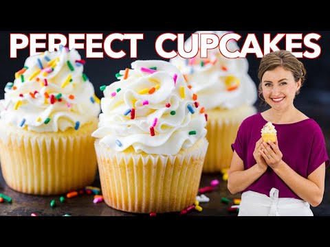 How to Get PERFECT VANILLA CUPCAKES Every Time