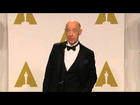 Oscars: JK Simmons Backstage Interview 2015