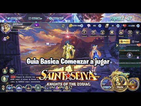Guia Basica Comenzar a jugar Saint Seiya Awakening: Knights of the Zodiac