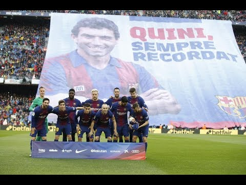BARÇA - AT. MADRDI | Minute's Silence In Memory Of Quini