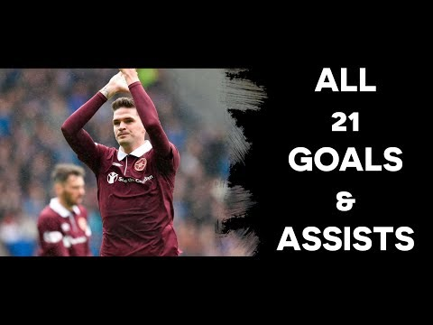 Kyle Lafferty - Hearts | All 21 Goals & Assists | 2017/18