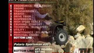 1. ATV Television QuickTest - 2004 Polaris Sportsman 400