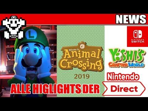 Nintendo Direct ALLE HIGHLIGHTS - 14.09.2018 - Animal Crossing und Luigis Mansion 3 angekündigt! (видео)