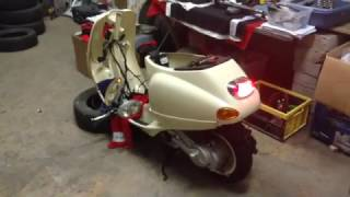 6. Vespa et4 reconstruction - engine strated