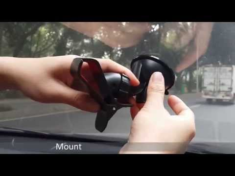 Review Car Windshield Holder Mount Stand for Galaxy S5 SM-G900 G905 HTC One M8