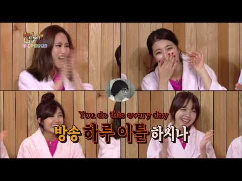 a pink - [Older Guy Fans Special] The girl groups are here in Happy Together! Suzy and Fei of miss A are back with their new song
