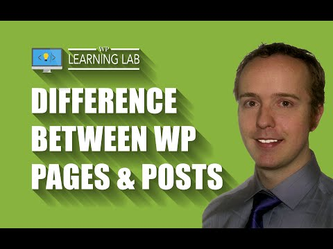 WordPress Pages vs. Posts – 5 Main Differences & When to Use Which One | WP Learning Lab