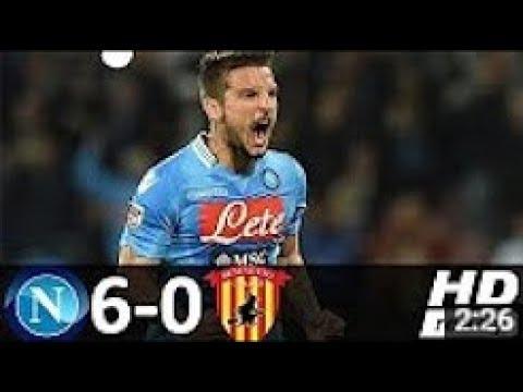 Napoli vs Benevento 6-0 Highlights & Goals - Serie A 17 Sep 2017