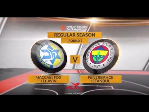 EuroLeague Highlights RS Round 7: Maccabi FOX Tel Aviv 87-77 Fenerbahce Istanbul