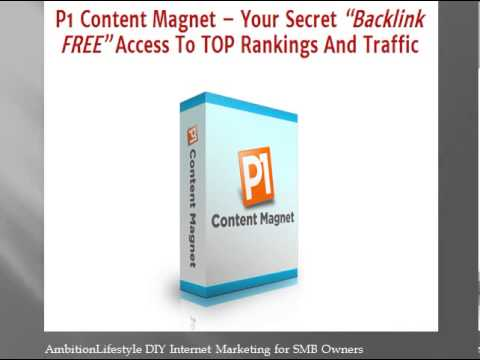 P1 Content Magnet, The DIY Internet Marketing Tool for SMB Owners - Review plus Bonus