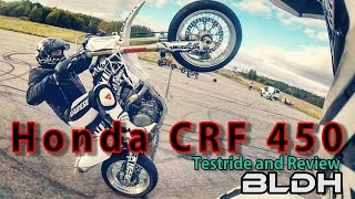 9. Honda CRF 450 Supermoto | test ride and review | BLDH
