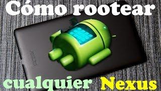 """Cómo rootear cualquier tablet o móvil Nexus casi de forma automática utilizando el programa """"Nexus Root Toolkit"""".El software se puede descargar desde, por ejemplo, http://www.majorgeeks.com/mg/getmirror/nexus_root_toolkit,2.html"""