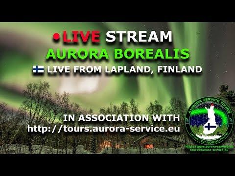 Live-Cam: Finnland - Lappland - Polarlicht - Aurora Borealis Live Stream