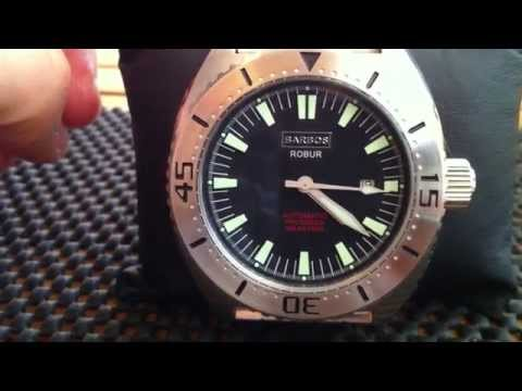 Barbos Robur Automatic Watch With Miyota 8215 Movement Sweep Stutter Second Hand