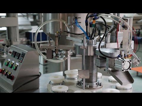 bioscience tubes plastic hose sealing machine for American crème ligne de remplissage d'étanchéité