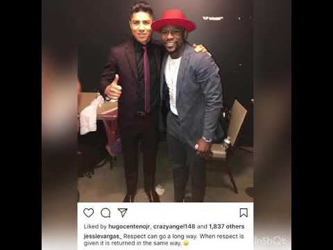 Jessie Vargas And Floyd Mayweather