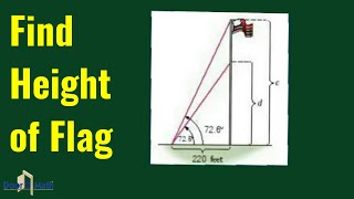 Here you'll learn to use trigonometry to determine the height of a flag