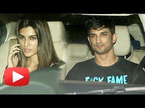 Sushant Singh Rajput With Rumored Girlfriend Kriti