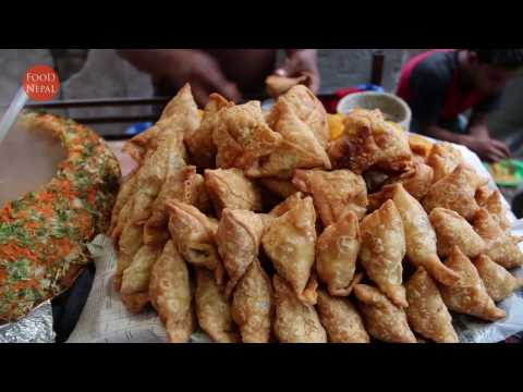 (Samosa Chat Hot N Spicy - Street Food Kathmandu  - Food Nepal - Duration: 51 seconds.)