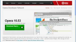 Работа с вкладками браузера Opera