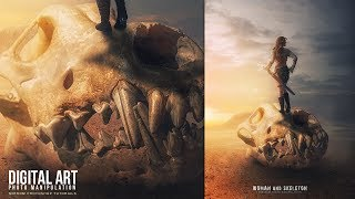 Hey everyone. Today I'm going to show you how to create photo manipulation in Photoshop Women and Skeleton We will learn techniques of combining photos for backgrounds, painting with brushes, lighting effects, adjustment layers, masking and filter effects. I hope you like it and thanks for watching!More Photoshop Tutorials: http://www.youtube.com/c/MirRom14Tutorial Resources:Desert - HumbleBeez: http://humblebeez.deviantart.com/art/desert-background-stock-215739637Warrior - jagged-eye: http://jagged-eye.deviantart.com/art/Lee-Warrior-219-656791813 - http://dmacstudios.com/Cloud - Lilinaceleste: http://lilinaceleste.deviantart.com/art/Cielo-16-643176889Skeleton - gatorstock: http://gatorstock.deviantart.com/art/DOG-SKULL-1-681655634Follow Us : Facebook : https://goo.gl/H5m598Google+ : https://goo.gl/PMkAPNWeb : http://goo.gl/E4vwh4Twitter : http://bit.ly/1RlY5QnMusic Credits:Eastern Thought by Kevin MacLeod is licensed under a Creative Commons Attribution license (https://creativecommons.org/licenses/by/4.0/)Source: http://incompetech.com/music/royalty-free/index.html?isrc=USUAN1100682Artist: http://incompetech.com/