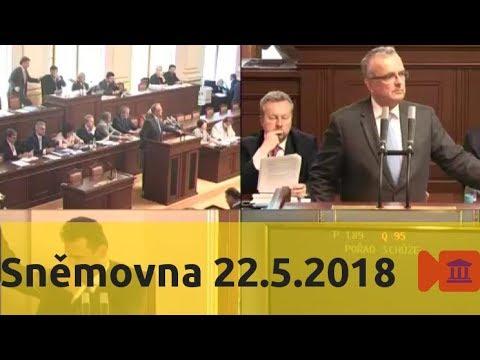 Sněmovna 22.5.2018 - Novičok, EET, trestní zákoník, atd.