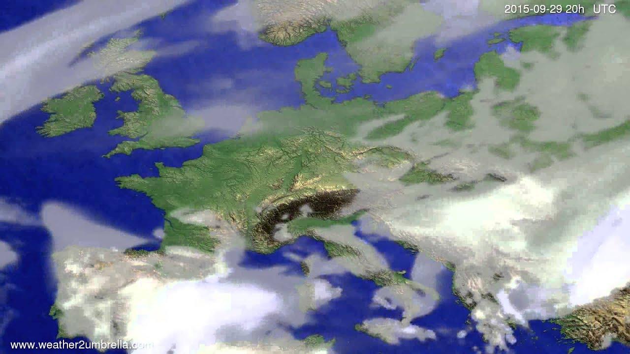 Cloud forecast Europe 2015-09-26