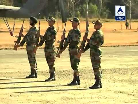 SUDHAKAR - Dead bodies of soldier Lance Naik Sudhakar Singh reached at their base camp. For more info log on to: www.youtube.com/abpnewsTV.
