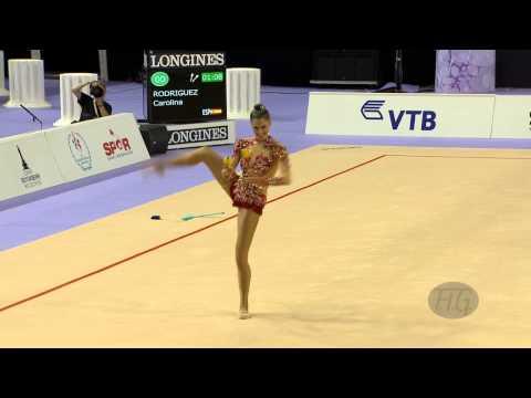 Rhythmic - FIG Official – 33rd Rhythmic Gymnastics World Championships Izmir (TUR) September 22-28 2014. Carolina Rodriguez (ESP), Qualifications Clubs : 16.116 (Diffic...