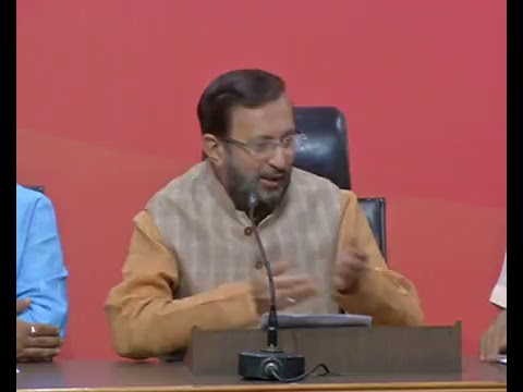 Press Conference by Shri Prakash Javadekar at BJP Central Office, New Delhi : 04.04.2017