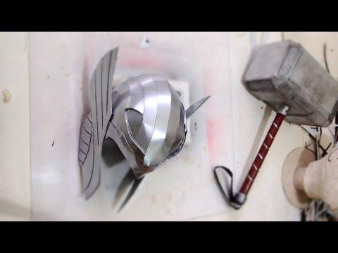 DIY Thor Helmet - Cardboard (free PDF) Cosplay How to