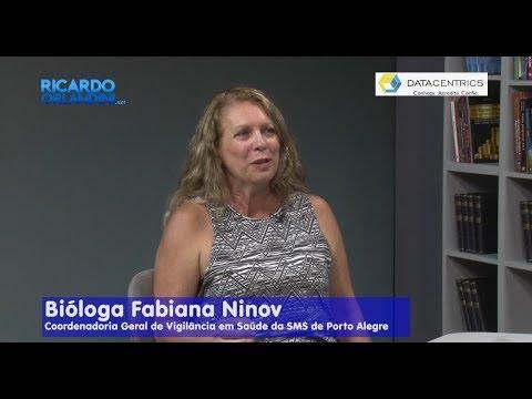 Ricardo Orlandini entrevista a cirurgiã dentista Eliane Gulko; a advogada Rochane Ponzi; e a bióloga Fabiana Ninov.