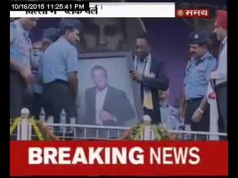 पेले का दिल्ली में नागरिक अभिनंदन