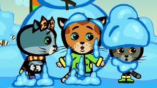 Развивающие мультики — КОТЯТКИНЫ ИСТОРИИ — Правила зимы — Песни для детей (Три котенка, новые серии)