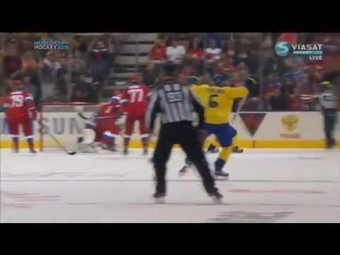 Россия - Швеция 1:2 Видео обзор матча и все голы 18.09.2016 Кубок Мира по хоккею 2016 (видео)