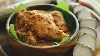 Nikmati Paduan Rendang Ayam dan Lemang