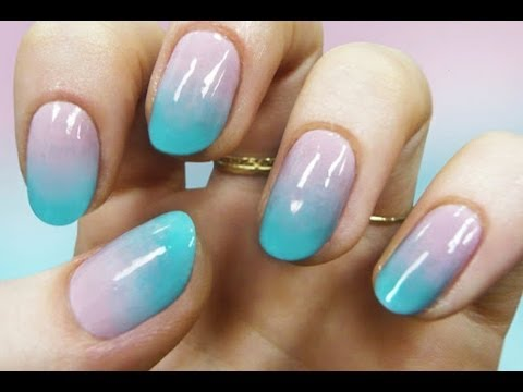 gradient nail art - tutorial