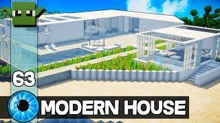 Minecraft 10 Minute Tour - Modern House 62