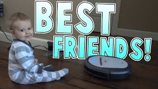 Babies Best-Friend Is A Robot Vacuum? | Family Baby Vlogs