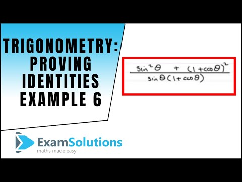 Trigonometrie - Proving Identities (Beispiel 6): ExamSolutions